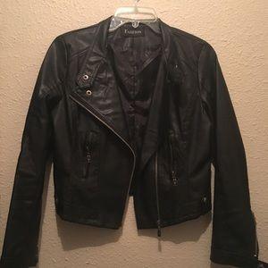 Jackets & Blazers - Black pleather jacket from China